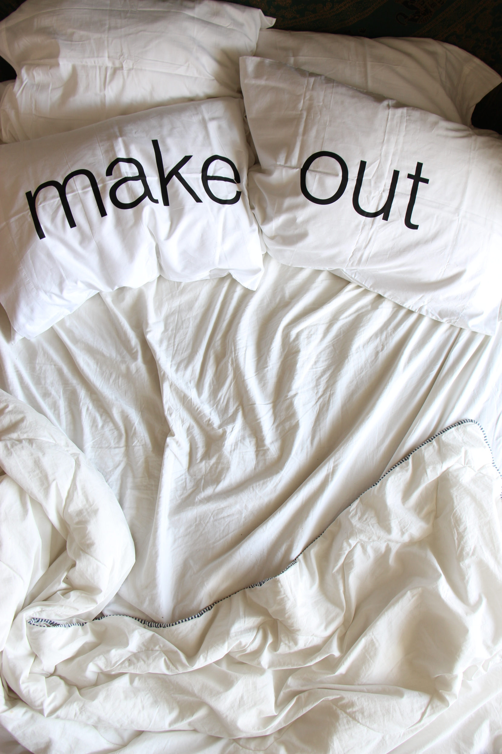 Get up, make out pillowcase